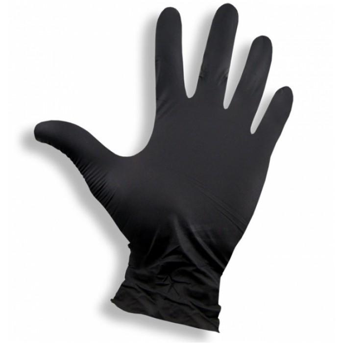Nitrilinės pirštinės S/M/L/XL  (pakuotė 100 vnt) Juodos