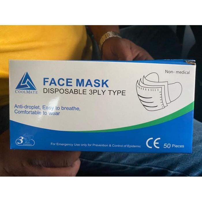 Vienkartinės veido kaukės Mėlynos