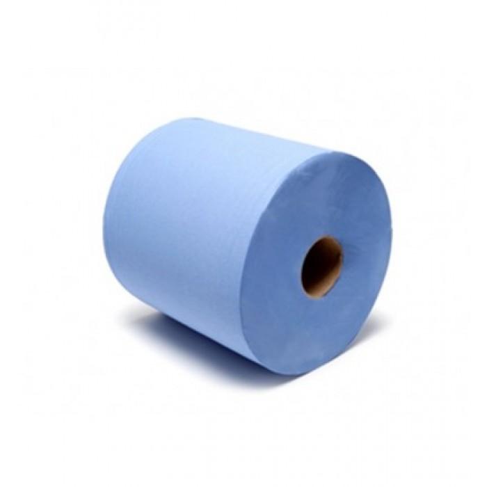 Popierinis rankšluostis 2 sluoksnių 20cmx150m mėlynas